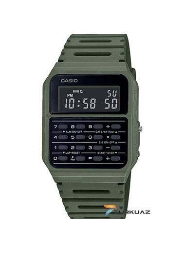 Casio Ca53Wf3Bdf Hesap Makineli Plastik Silikon Kayış Kadran Su Geçirmez Erkek Dijital Kol Saati Lacivert